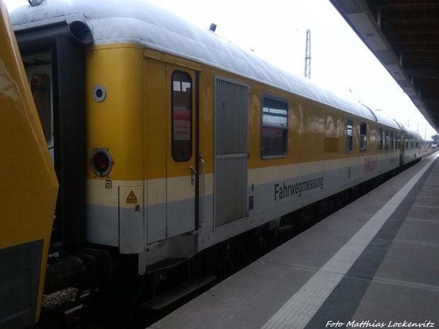 Fahrwegemesswagen im Bahnhof Stralsund Hbf am 25.3.14