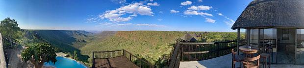 Panorama von der Grootberg Lodge Terrasse