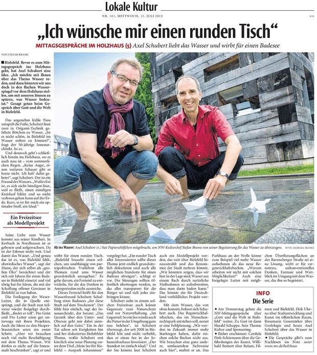 NW Neue Westfälische Wasser Bielefeld Untersee Obersee Kultur Stefan Brams schwimmen baden Vision