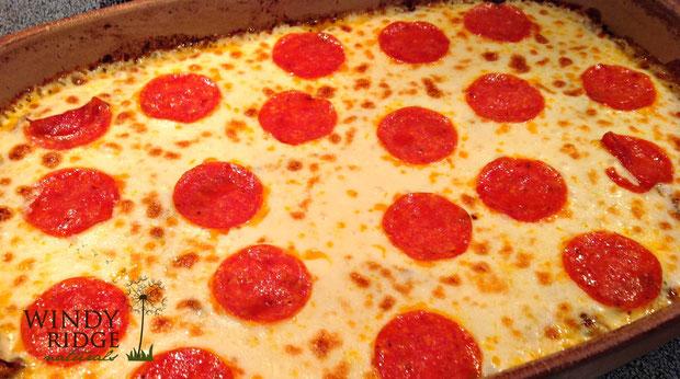 Spasagna:  Gluten free, Grain free Baked Pizza Spaghetti from Windy Ridge Naturals