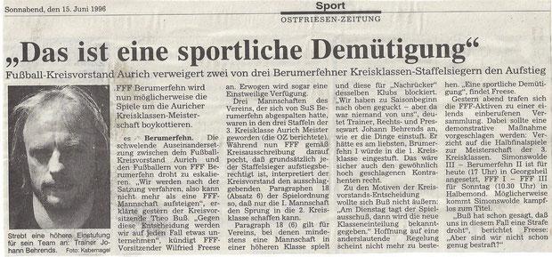 (Ostfriesen-Zeitung vom 15. Juni 1996)