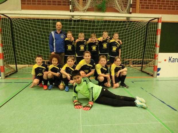 Die E-Jugend am 08. Januar 2015 beim Supercup der Gemeinde Großheide.