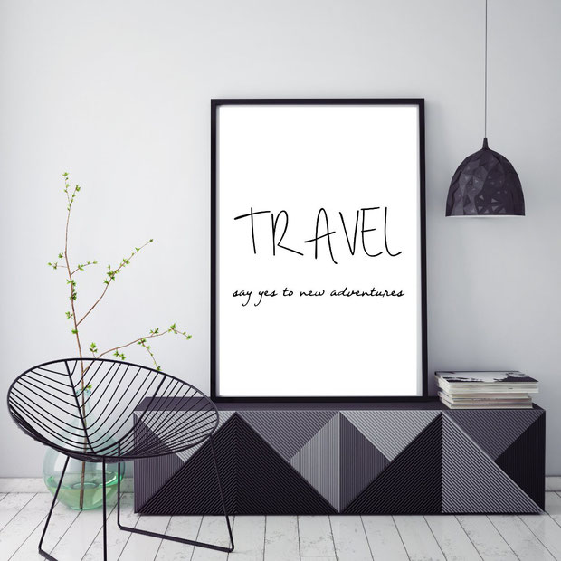Typografie Poster   Sprüche Poster   Reisesprüche   Travel Quotes