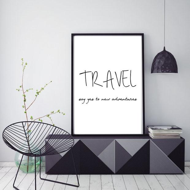 Typografie-Poster   Sprüche Poster   Reisesprüche   Travel Quotes