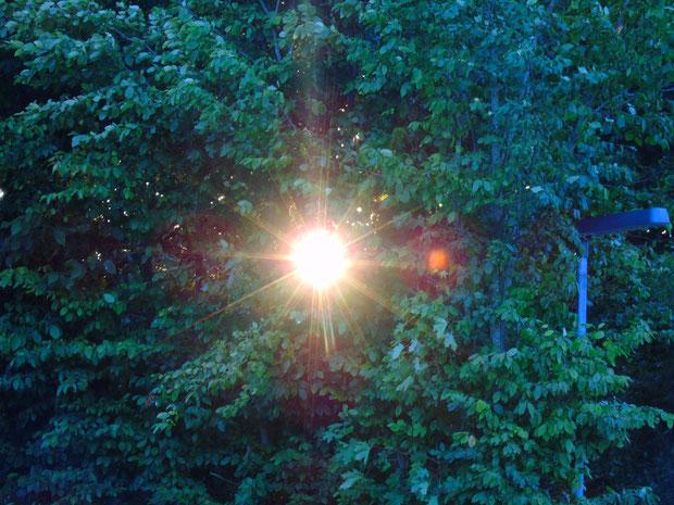 """©www.lichtwesenfotografie.com   """"Sonnenrad trifft Straßenlaterne""""  oder """"Natürlich vs. künstlich"""""""