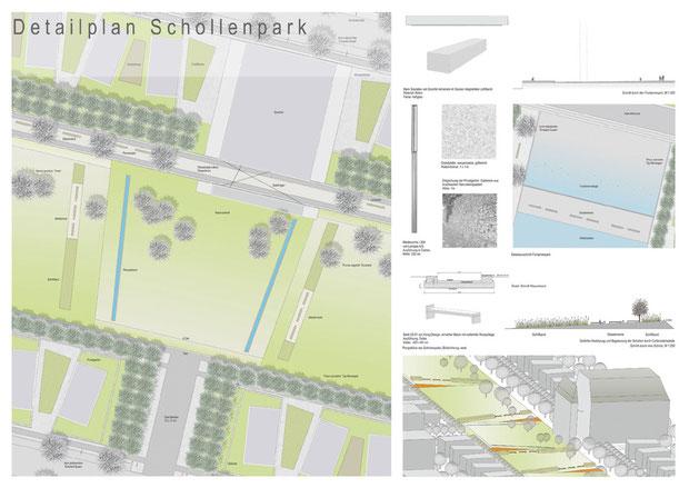 Vertiefungsbereich, Schollenpark Nord