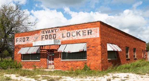Food locker from back in the day in Evant, Texas