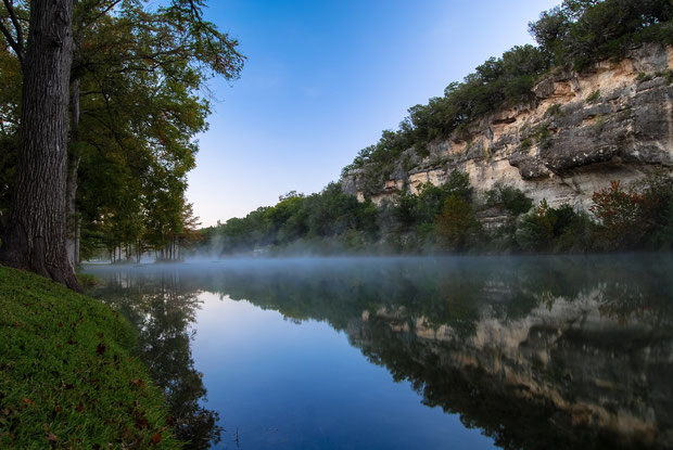 morning fog Ingram, Texas