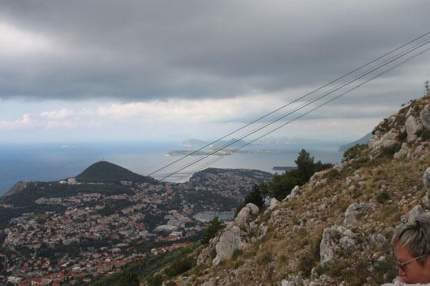 Auf dem Hausberg von Dubrovnik-Srd. Das war der einzige Vormittag mit schlechtem Wetter.