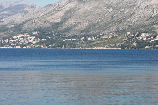 Mlini von Cavtat aus gesehen.