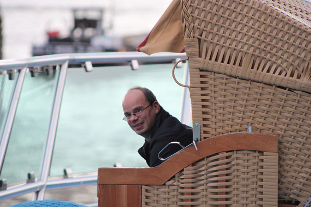 Strandkorbfeeling auf dem Schiff.