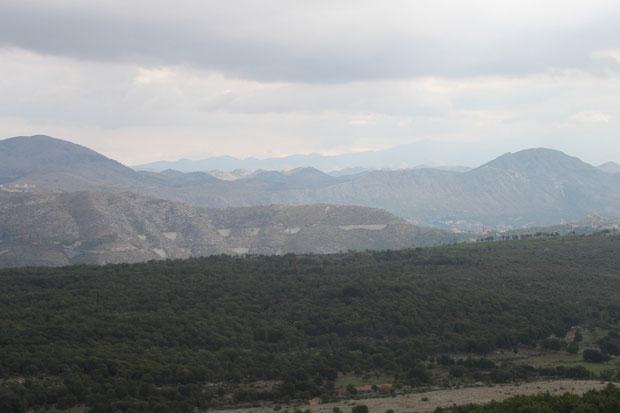 Blick nach Bosnien-Herzegowina vom Berg Srd.