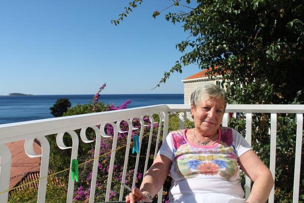 Auf dem Balkon unserer Unterkunft ff.
