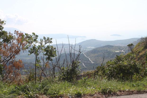 Fahrt nach Bosnien-Herzegowina,Blick von dort auf die Mlinibucht.