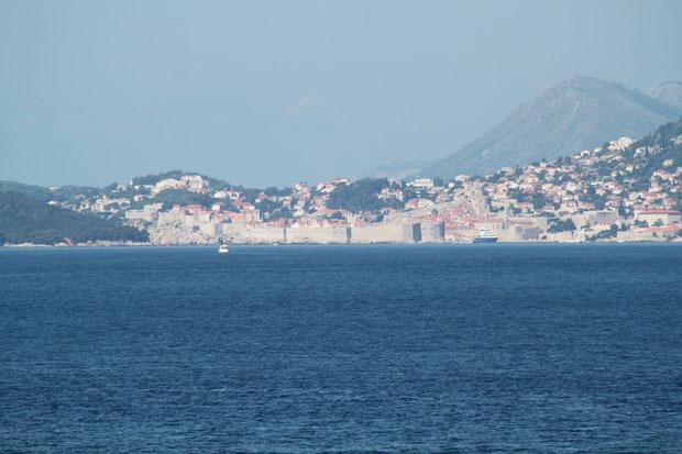Dubrovnik von Cavtat aus gesehen.