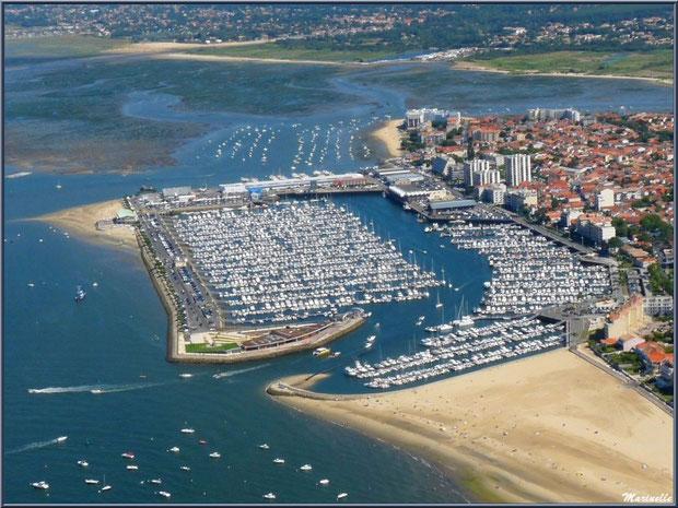 Bassin d 39 arcachon 33 vu du ciel site de - Restaurant arcachon port de plaisance ...