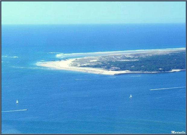 La Pointe au Cap Ferret, entre Bassin et Océan Atlantique, Bassin d'Arcachon vu du ciel (33)