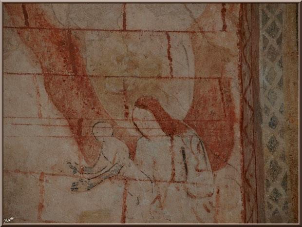 Eglise St Michel du Vieux Lugo à Lugos (Gironde) : fresque murale dans le choeur