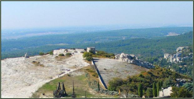 Plan Dalle (à droite, en contrebas du moulin), Château des Baux-de-Provence, Alpilles (13)
