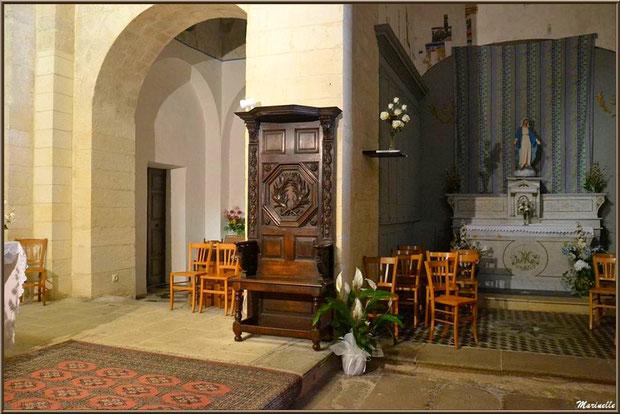 Très belle chaise et autel de la Vierge à l'église Saint Sébastien - Goult, Lubéron - Vaucluse (84)