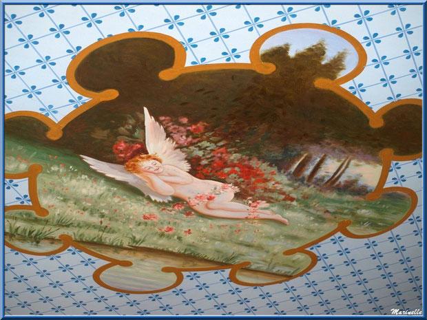 Fresque ange avec son entourage, plafond