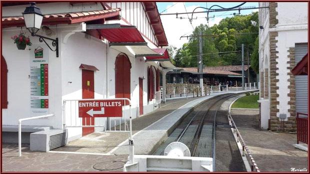 La gare du petit train à crémaillère de Sare Pays Basque français
