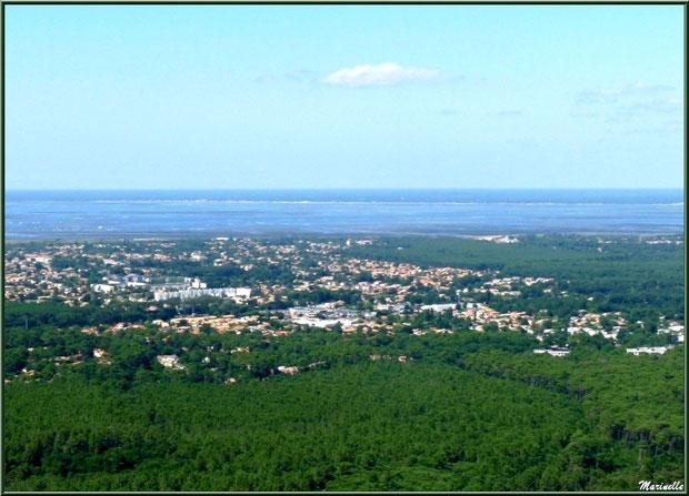 La Teste et Arcachon, le Bassin et le Nord Bassin en fond, Bassin d'Arcachon vu du ciel (33)