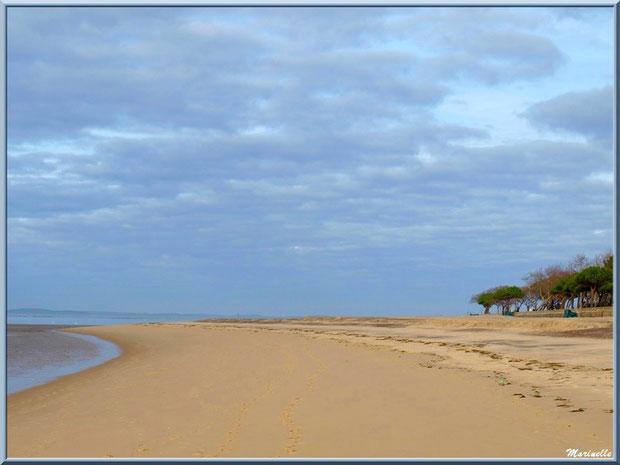 La plage Péreire et le Bassin à marée basse à Arcachon, Bassin d'Arcachon (33)