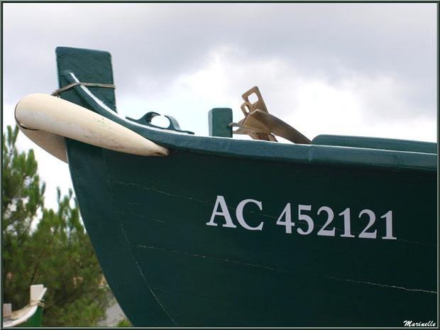 "Pinasse ""Océanide II"" au Chantier Naval Debord et Charmet, Port de Meyran à Gujan-Mestras, Bassin d'Arcachon (33)"