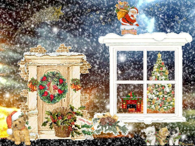 Quand le Père Noël commence sa distribution de surprises