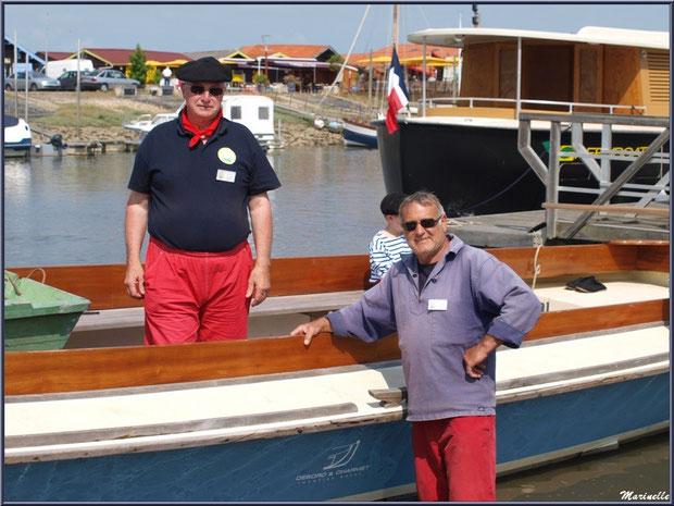 Marins sur le départ pour la pêche à la sardine - Fête du Retour de la Pêche à la Sardine 2014 à Gujan-Mestras, Bassin d'Arcachon (33)