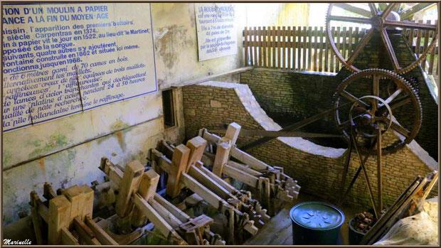 """Les piles à maillets du moulin à papier """"Vallis Clausa"""", Fontaine de Vaucluse, Pays de La Sorgue, Vaucluse (84)"""