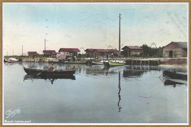 Gujan-Mestras autrefois : Port de La Barbotière, Bassin d'Arcachon (carte postale, collection privée)