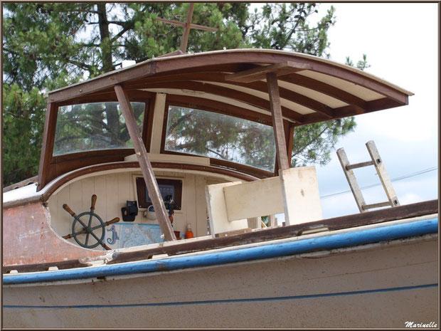 "Pinasse ""Traïna"" au Chantier Naval Debord et Charmet, Port de Meyran à Gujan-Mestras, Bassin d'Arcachon (33)"