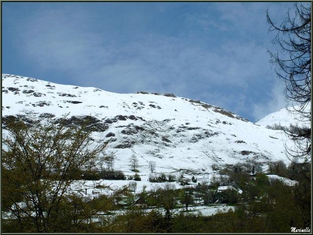 Paysage entre Laruns et Les Eaux-Bonnes, en avril 2013, Vallée d'Ossau (64)