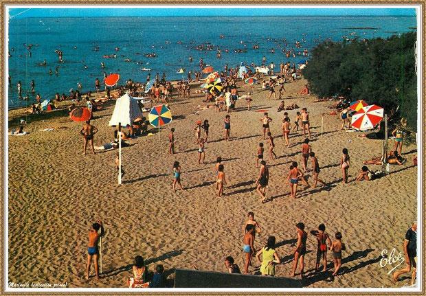 Gujan-Mestras autrefois : La Hume, plage et baigneurs, Bassin d'Arcachon (carte postale, collection privée)