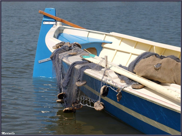 Filets pendant à coque d'une pinassote de retour de la pêche à la sardine - Fête du Retour de la Pêche à la Sardine 2014 à Gujan-Mestras, Bassin d'Arcachon (33)