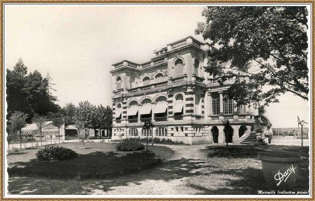 Gujan-Mestras autrefois : vers 1950, le Château Mader, Bassin d'Arcachon (carte postale, collection privée)