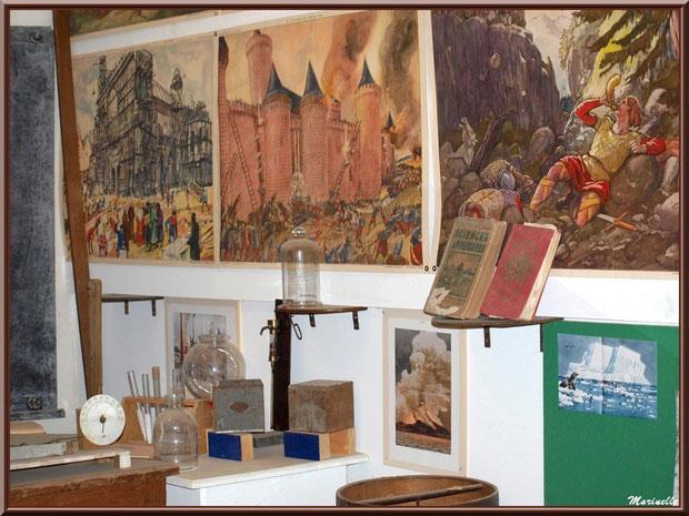 Musée Marc Deydier, village de Cucuron, Lubéron (84) : reconstitution d'une ancienne salle de classe