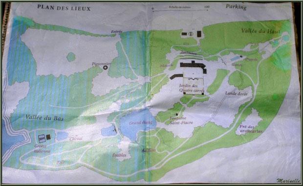 Plan du parcours des Jardins du Kerdalo à Trédarzec, Côtes d'Armor  (22) - cliquez sur image pour agrandir