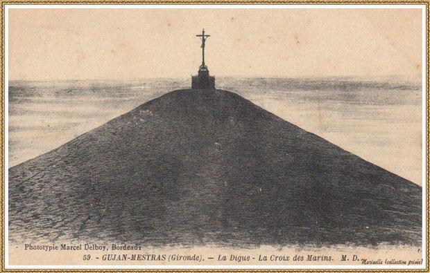 Gujan-Mestras autrefois : en 1926, la Jetée du Christ, Port de Larros, Bassin d'Arcachon (carte postale, collection privée)