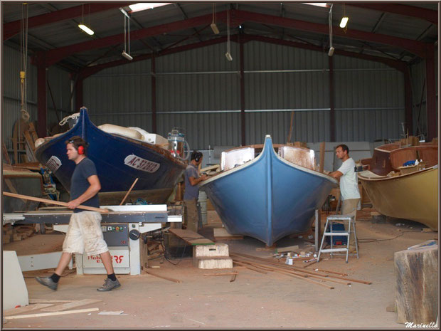 Chantier Naval Debord et Charmet, Port de Meyran à Gujan-Mestras, Bassin d'Arcachon (33)