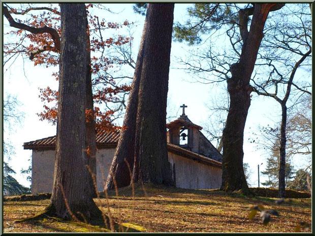 La chapelle Saint-Roch, vue de l'arrière, au milieu de l'airial à Saugnacq-et-Muret (40)