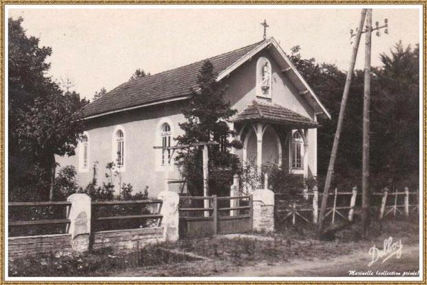 Gujan-Mestras autrefois : l'ancienne chapelle de La Hume, Bassin d'Arcachon (carte postale, collection privée)