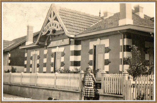 Gujan-Mestras autrefois : l'ancien Chemin de la Gare (devenu rue de la Gare, puis rue et allée des Fauvettes) , Bassin d'Arcachon (photo de famille, collection privée)