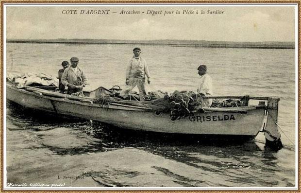 Départ pour la pêche à la sardine, Bassin d'Arcachon (33)