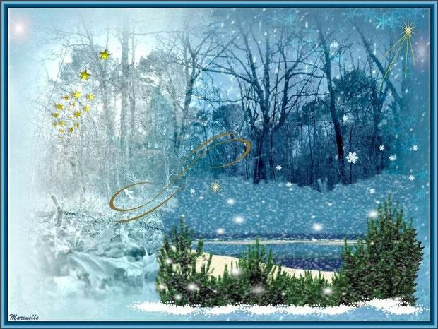 Noël blanc sur le Bassin d'Arcachon
