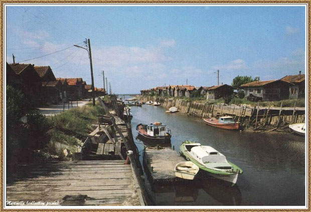 Gujan-Mestras autrefois : Port du Canal, Bassin d'Arcachon (carte postale, collection privée)