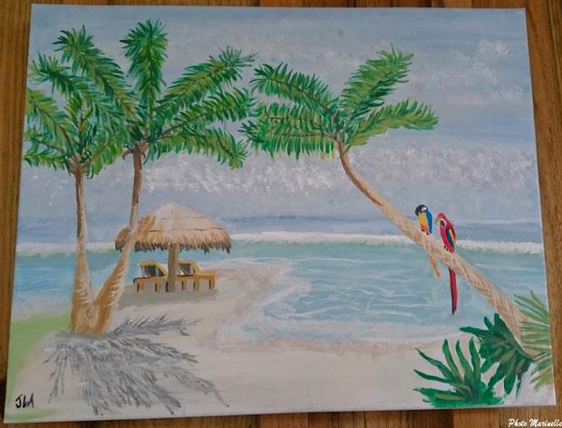 """JLA Artiste Peintre - """"Invitation au Voyage"""" 037 - Peinture sur toile"""