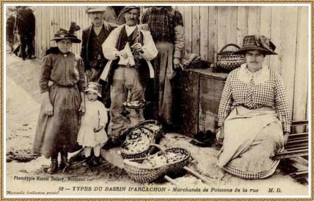 Marchands de sardines dans la rue, Bassin d'Arcachon (33)